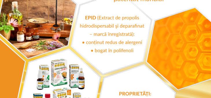 Gama E.P.I.D. Propolis are grijă de sistemul tău imunitar chiar și vara