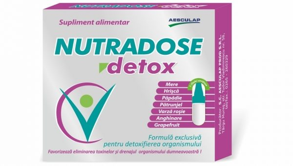 Nutradose Detox – complexul natural care reda  starea de bine a organismului