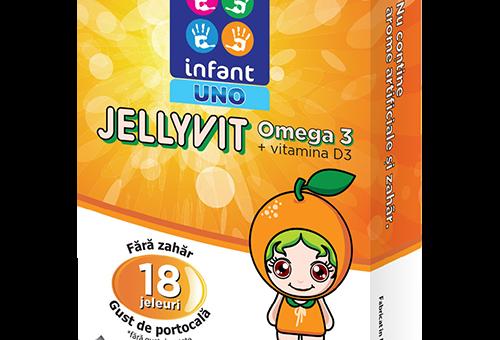 JELLYVIT: Doza necesară de acizi grași OMEGA 3 și vitamina D3 pentru dezvoltarea copilului tău